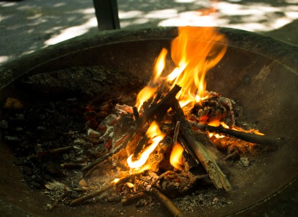 It really wouldn't be a post about camp if there wasn't a campfire somewhere, would it?
